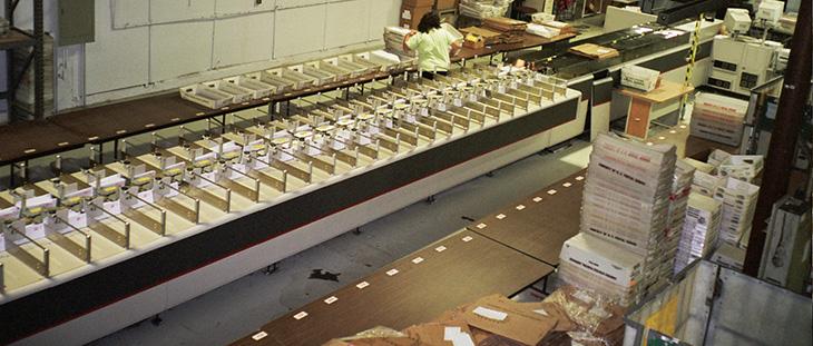 mail presort machine