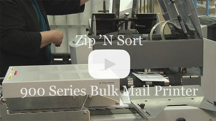 900 series bulk mail printer video