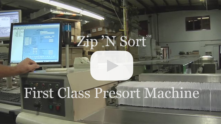 first class presort machine video
