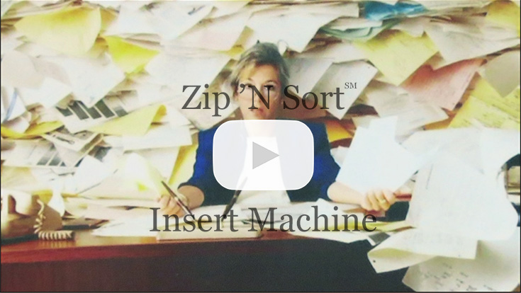 zip n sort mail inserter video