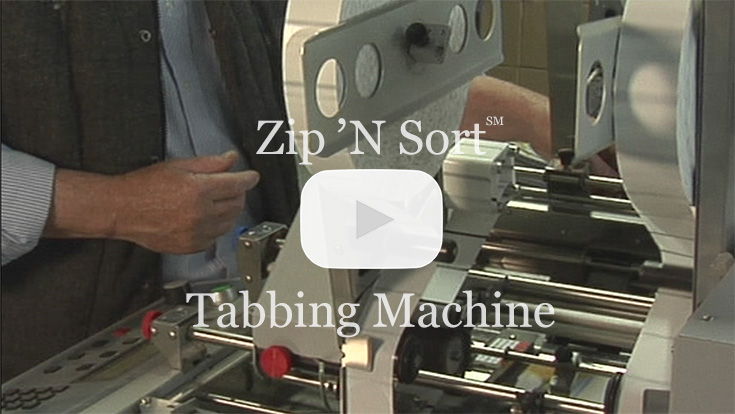 Zip 'N Sort Mail Services' Tabbing Machine